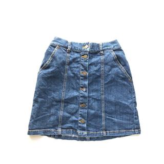 プニュズ(PUNYUS)のPUNYUS 前ボタン台形デニムスカート(ミニスカート)