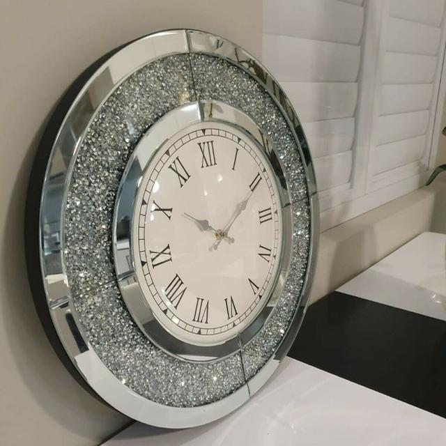 Francfranc(フランフラン)のキラキララグジュアリー掛け時計 インテリア/住まい/日用品のインテリア小物(掛時計/柱時計)の商品写真