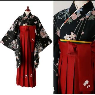 キャサリンコテージ(Catherine Cottage)の着付け簡単袴セット 刺繍入り袴和装セット140サイズ(和服/着物)