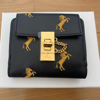 Chloe - クロエ 財布 二つ折り 馬 刺繍