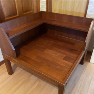 カリモク家具 - 高級家具 アンティーク シンプル 木目調 ローテーブル