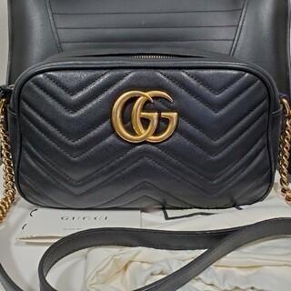 Gucci - GUCCIGGマーモントショルダーバッグ スモール ブラック