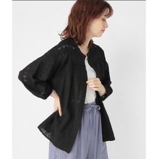 スタディオクリップ(STUDIO CLIP)の刺繍ブラウス ブラック 刺繍シャツ(シャツ/ブラウス(長袖/七分))