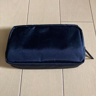 ムジルシリョウヒン(MUJI (無印良品))の無印良品 ナイロンコンパクトポーチ 黒 ブラック 約9×14×3.5cm(ポーチ)