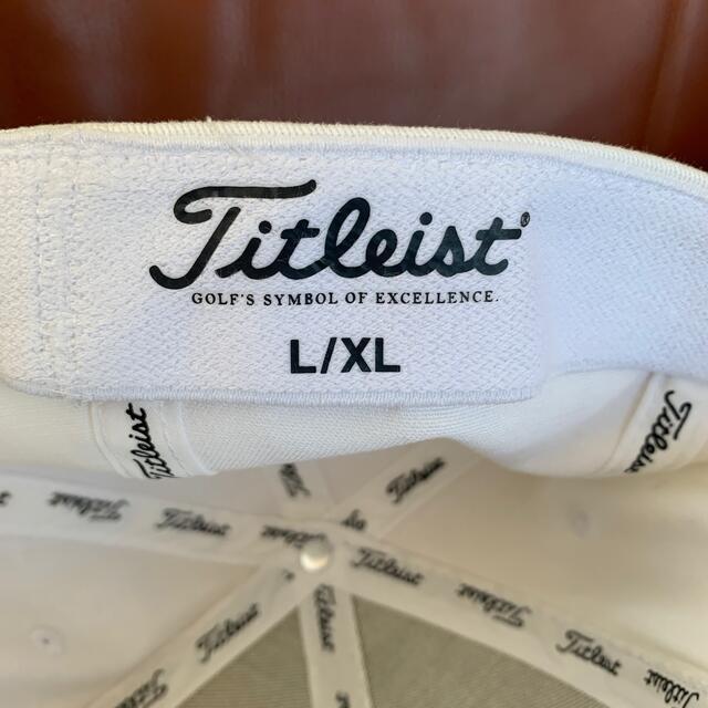Titleist(タイトリスト)のTitleist ロゴキャップ 白 L/XL メンズの帽子(キャップ)の商品写真