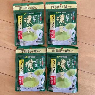 伊藤園お~いお茶 濃い茶 さらさら抹茶入り緑茶 40g 【機能性表示食品】