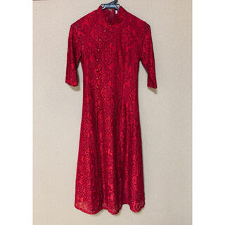 チャイナドレス 赤 ワンピース 未使用品