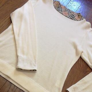バーバリー(BURBERRY)の3 S 超美品 バーバリーゴルフ BURBERRY セーター 白 ニット(ニット/セーター)