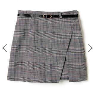 グレイル(GRL)のインパン ベルト付きグレンチェックラップデザインスカート グレイル GRL(ミニスカート)