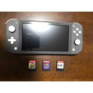 Nintendo Switch - 美品♪ ニンテンドー スイッチ ライト グレー  ソフト3本付き