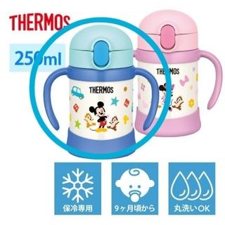 サーモス(THERMOS)の★新品未使用★ サーモス ミッキー ストローマグ 250ml(水筒)
