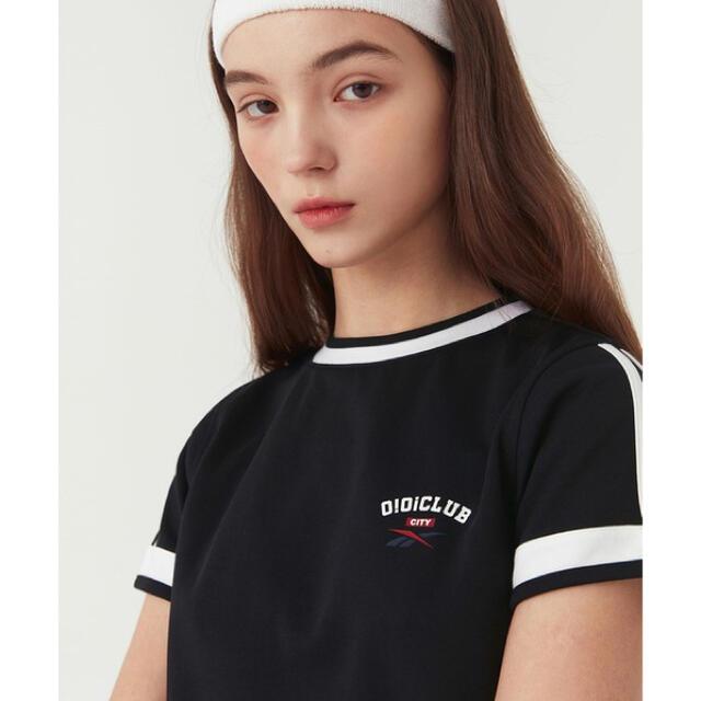 Reebok(リーボック)のO!Oi クラブ ショートスリーブ Tシャツ クロップド丈 リーボック レディースのトップス(Tシャツ(半袖/袖なし))の商品写真