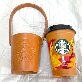 Starbucks Coffee - スターバックス☆新品未使用!レザーカップホルダーとリユーザブルカップセット!