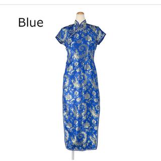 BODYLINE - BODYLINE チャイナ服 青色