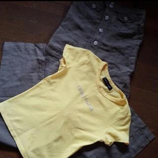 セシルマクビー(CECIL McBEE)のセシルマクビー 2点セット サロペット Tシャツ(サロペット/オーバーオール)