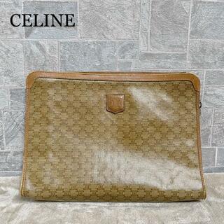 セリーヌ(celine)の【希少】CELINE セリーヌ マカダム ライトブラウン クラッチバッグ(クラッチバッグ)