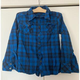 セシルマクビー(CECIL McBEE)の青系チェックシャツ セシルマクビー(シャツ/ブラウス(長袖/七分))