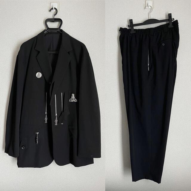 Yohji Yamamoto(ヨウジヤマモト)の【未使用】18-19SS ヨウジオム 仏陀セットアップ ギャバ yohji メンズのスーツ(セットアップ)の商品写真