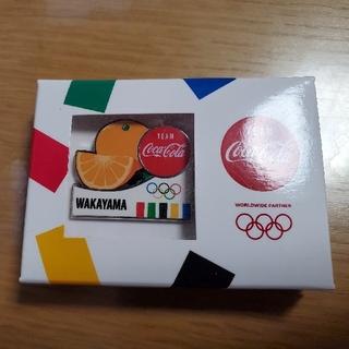 コカコーラ(コカ・コーラ)の東京オリンピック コカ・コーラ 和歌山ピンバッジ(ノベルティグッズ)