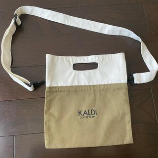 KALDI - カルディ ショルダーバック トートバッグ カーキ キャンバス サコッシュ 斜めが