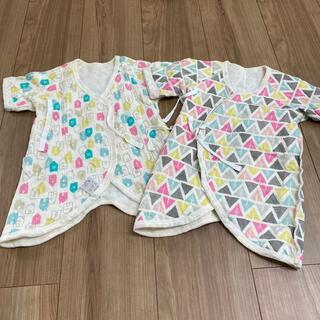 西松屋 - コンビ肌着 冬 キルト 北欧柄 二枚セット 新生児 西松屋