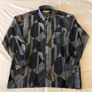 90's幾何学柄ビッグシャツ