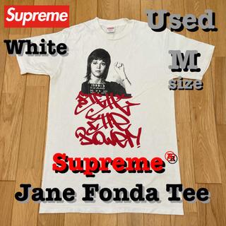 Supreme - 中古‼️ Supreme × Jane Fonda Tee 白 Mサイズ 送料込