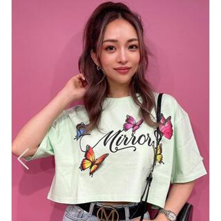 ジェイダ(GYDA)のmirror9  バタフライtシャツ グリーン(Tシャツ(半袖/袖なし))
