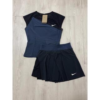 NIKE - ☆新品☆ NIKEナイキ 海外テニスウェア  Black トップス US-XS