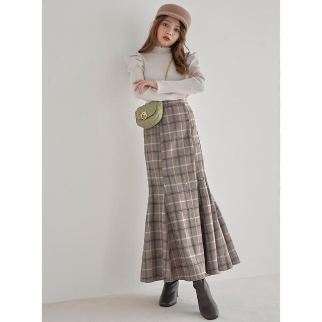 GRL(グレイル)のちぃぽぽちゃん着用チェックマーメイドスカート レディースのスカート(ロングスカート)の商品写真
