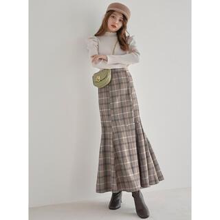 GRL - ちぃぽぽちゃん着用チェックマーメイドスカート