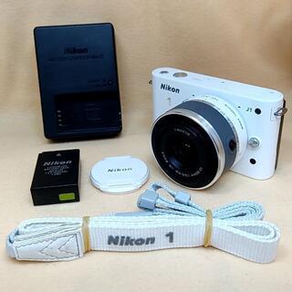 Nikon - ミラーレス一眼カメラ Nikon 1 J1 標準ズームレンズ ホワイト