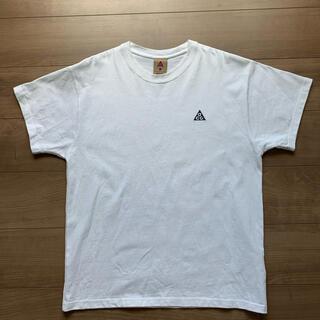 NIKE - ACG NIKE logo ロゴ Tシャツ 白 XL  ナイキ
