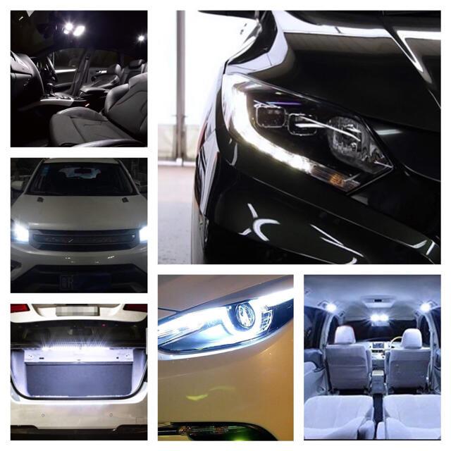 T10 LEDバルブ ウェッジ球 5連(5SMD)5050【10個】12V 自動車/バイクの自動車(汎用パーツ)の商品写真