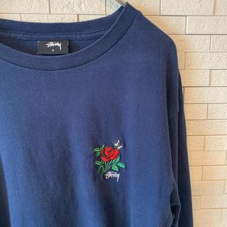 ステューシー(STUSSY)のSTUSSY ステューシー 長袖カットソー 薔薇・ロゴ刺繍(Tシャツ/カットソー(七分/長袖))