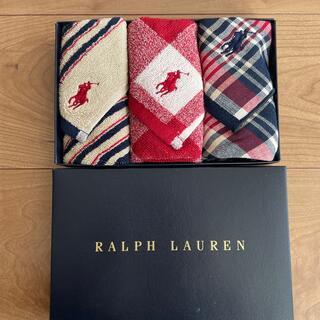 Ralph Lauren - ラルフローレン タオルハンカチ 3枚セット