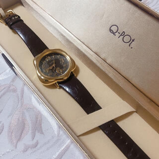 Q-pot. - Q-pot. トケトケイ ブラウン 腕時計