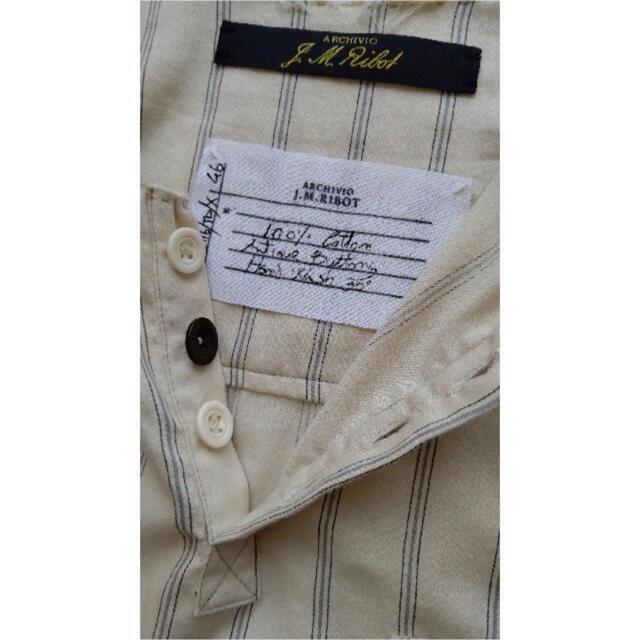 Paul Harnden(ポールハーデン)のARCHIVIO J.M.RIBOT ビンテージコットンノーカラーシャツ メンズのトップス(シャツ)の商品写真