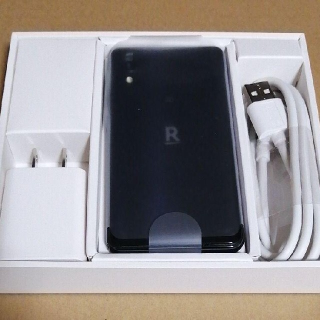 Rakuten(ラクテン)の楽天ミニ ブラック 解約済み 専用ケース付き スマホ/家電/カメラのスマートフォン/携帯電話(スマートフォン本体)の商品写真