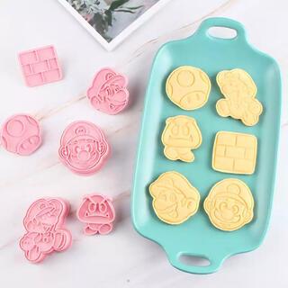 ニンテンドウ(任天堂)のマリオ クッキー型 粘土型(調理道具/製菓道具)
