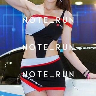 【xda】コスチューム RQ レースクイーン 衣装 黒・白・赤(衣装一式)