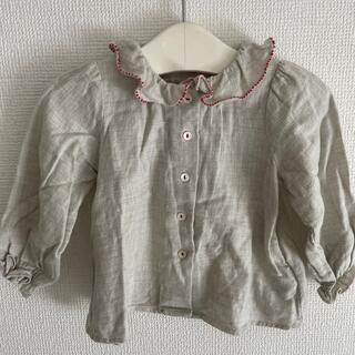 ボンポワン(Bonpoint)のbonpoint ♡ frill blouse(シャツ/カットソー)