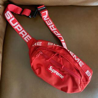 Supreme - シュプリーム Supreme 18ss 美品 赤ウエストポーチ ウエストバッグ