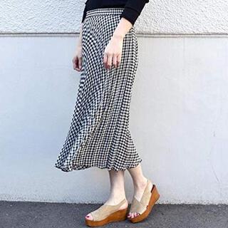 SHIPS for women - ギンガムチェックプリーツスカート
