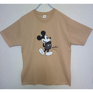 Disney - 新品タグ付★Mickey Mouse★Tシャツ★ベージュ★L