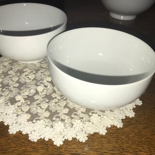 ムジルシリョウヒン(MUJI (無印良品))の無印良品白磁丼大小セット(大小2客ずつ)(食器)