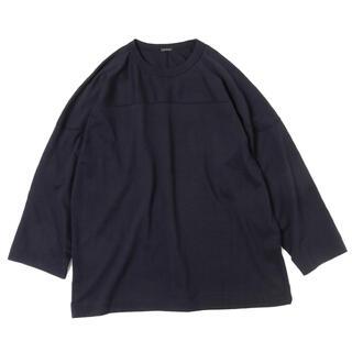 コモリ(COMOLI)のCOMOLI Football TEE 20aw navy size2(Tシャツ/カットソー(七分/長袖))