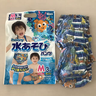 ユニチャーム(Unicharm)の水遊びパンツ Mサイズ 2枚(ベビー紙おむつ)