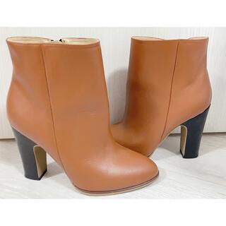 スナイデル(snidel)の美品 スナイデル SNIDEL 牛革 ブーツ サイズS(ブーツ)