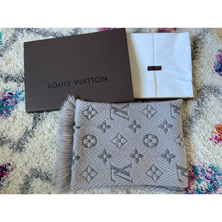 LOUIS VUITTON - Louis Vuitton ルイ・ヴィトン マフラー グレー ショール